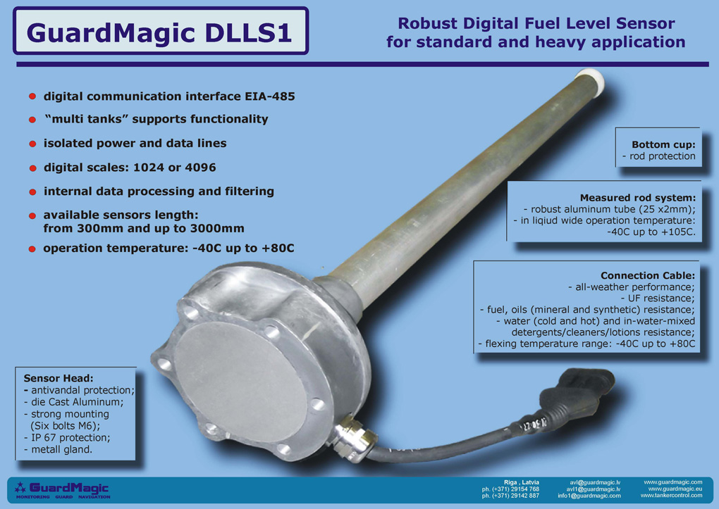 Solid Digital Fuel Level Sensor Fuel Level Sensors For